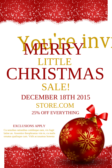 Christmas Sale Affiche template
