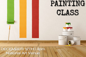Painting Class Flyer - Customizable