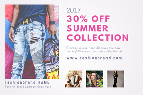 Fashion Postcard Design Template