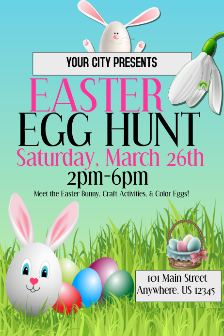Easter Egg Hunt Event Template