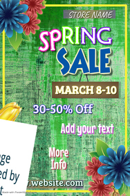Copy of Spring Sale Poster Template