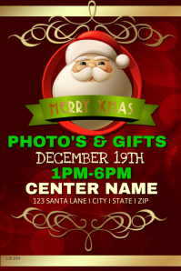 Santas Photos and Gifts Event Template โปสเตอร์