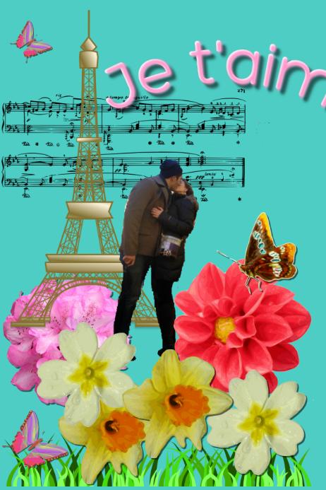 Vintage Postcard--Paris Love