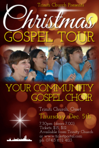 Christmas Gospel Tour Poster template