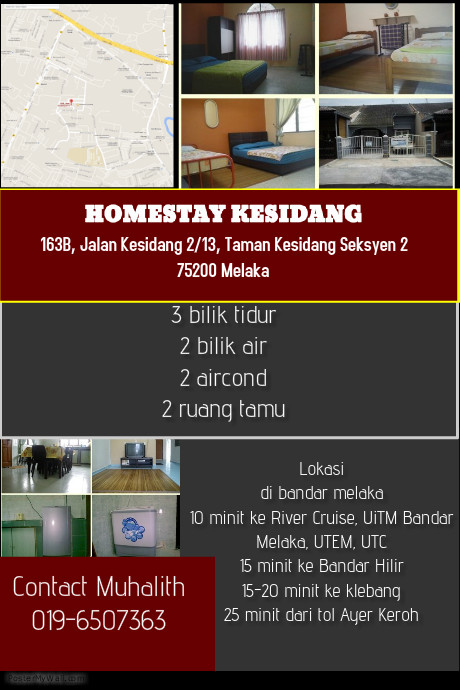 Homestay Murah Dan Selesa Di Bandar Melaka