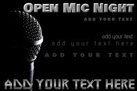 open mic night microphone music event flyer