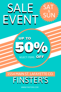 Vintage Sale Event Poster template