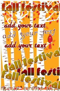 Fall Festival Autumn Leaves Event Flyer Ad Poster