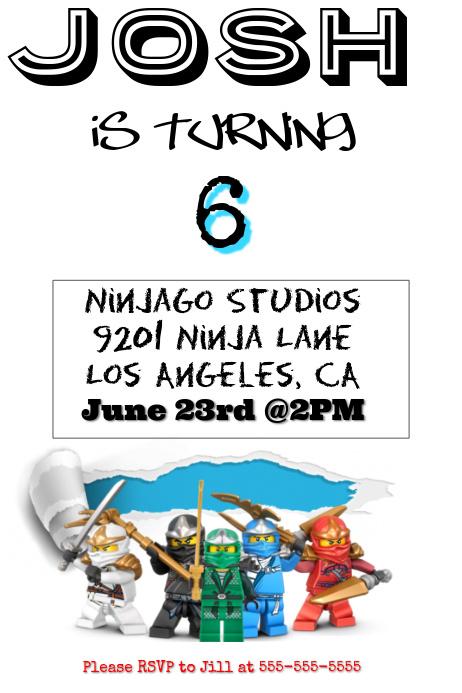 Ninjago Party Template | PosterMyWall