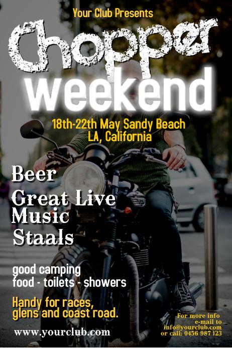 chopper weekend poster