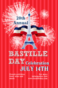 Bastille Day Flyer Templates Poster