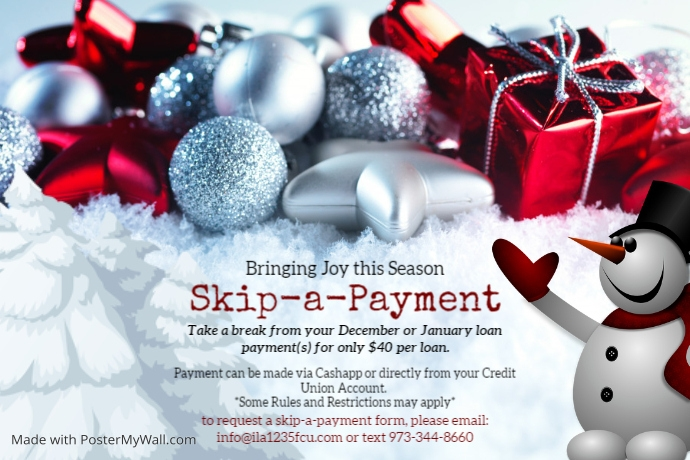 Skip Pay Promo Label template