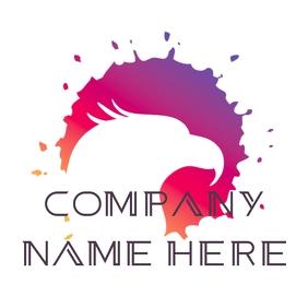 Eagle colorful logo โลโก้ template