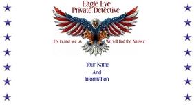 Eagle Patriotic Business Card