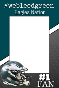 Eagles Football Photo Prop Frame