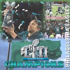 Eagles Superbowl Champion Poster