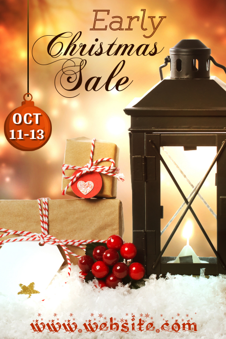 Early Christmas Sale Poster
