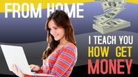 EARN MONEY FROM HOME YouTube-Miniaturansicht template