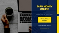 earn money online Digital na Display (16:9) template