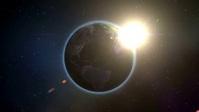 Earth' and sun YouTube-miniature template