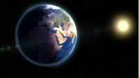 earth and sun zoom background Miniature YouTube template