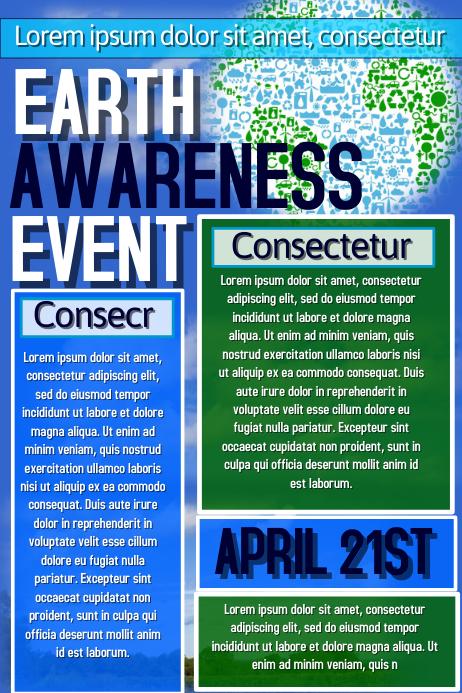 Earth Awareness Flyer