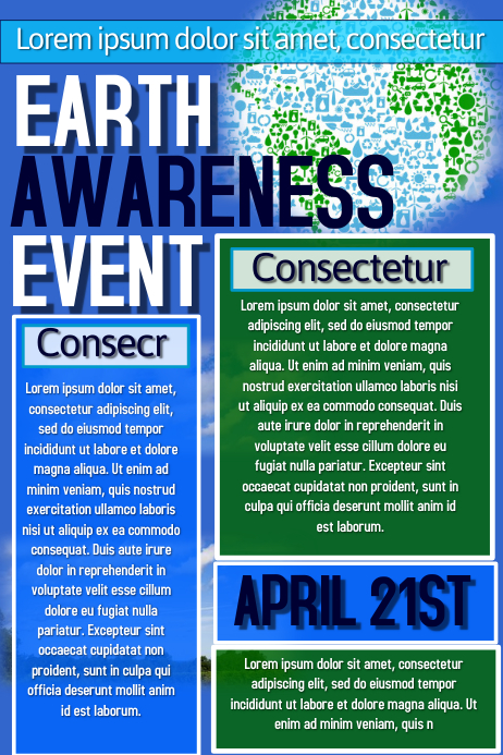 Earth Awareness Flyer