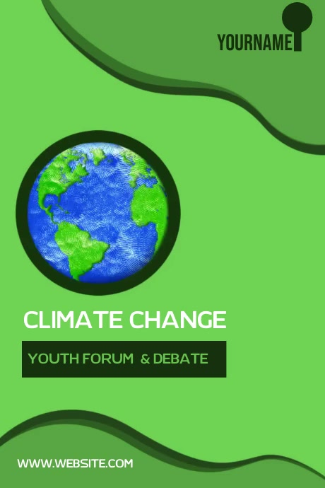 EARTH CLIMATE CHANGE POSTER SOCIAL MEDIA 海报 template