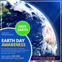 Earth Day, Earth Awareness Day, Save Earth Message Instagram template