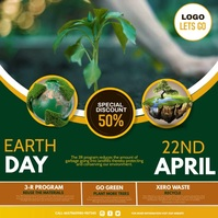 earth day, environmental ad Kvadrat (1:1) template