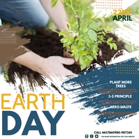 earth day,environmental Square (1:1) template