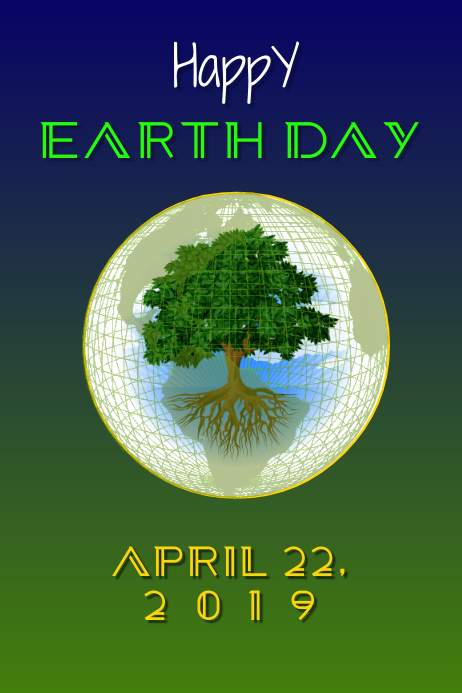 Earth Day 2019 Poster template