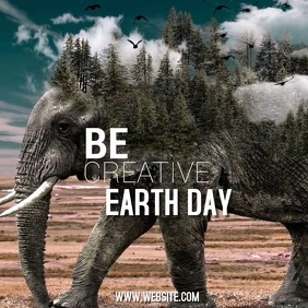 EARTH DAY AD SOCIAL MEDIA TEMPLATE Instagram Post