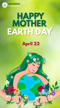 Earth Day Advert Instagram Story template