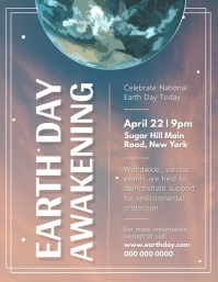 Earth Day Awakening Event Flyer