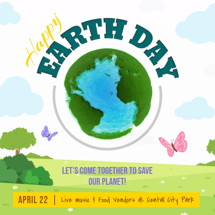 Earth Day Awareness Campaign Square Video template