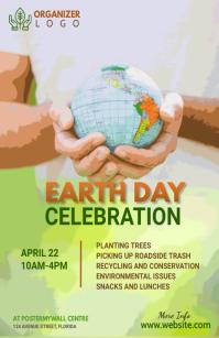 Earth Day banner 半版 template