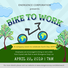 Earth Day Bike to Work Ad