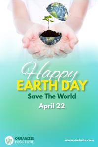 earth day celebration Spanduk 4' × 6' template