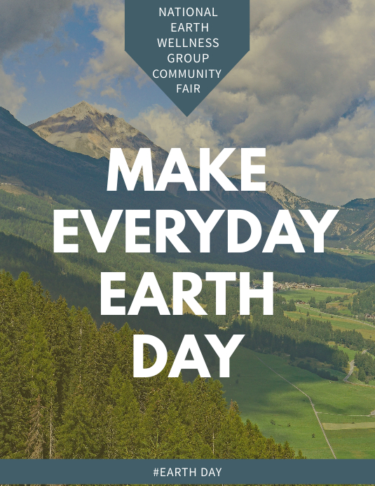 Earth day Celebration Flyer Template Løbeseddel (US Letter)