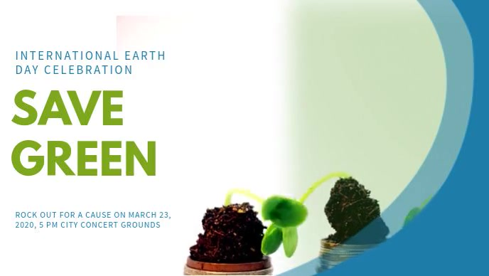 Earth Day Celebration Video Ad Template