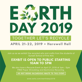 Earth Day Community Event Advert