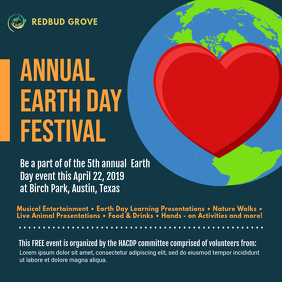 Earth Day Community Festival Ad Template