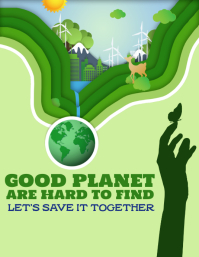 Earth Day Flyer (format US Letter) template