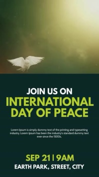 Peace Day Instagram Story template