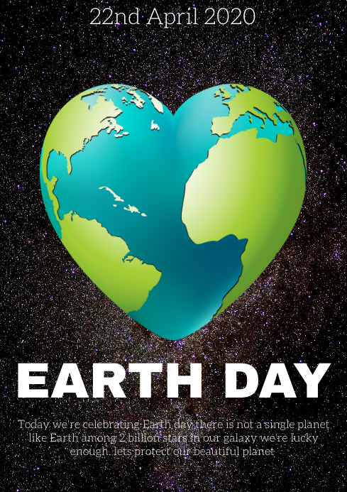 earth day A4 template