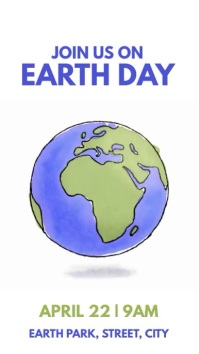 Earth Day Instagram Story template
