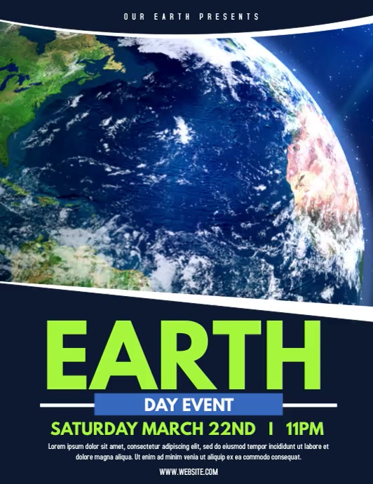 Earth Day Pamflet (Letter AS) template
