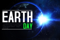 Earth Day Plakkaat template