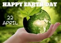 Earth day ไปรษณียบัตร template